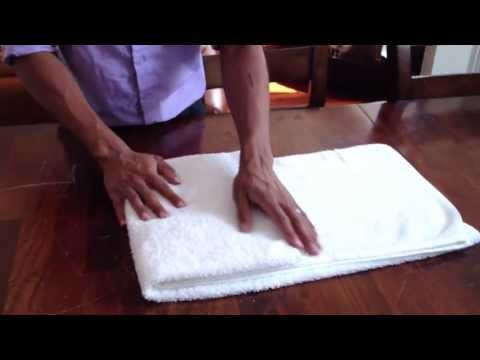 How To Fold A Towel Like They Do In Hotels